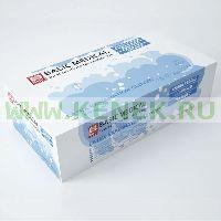 Basic Перчатки латекс, гладкие, Powder, нестерил [№100]