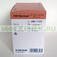 Б.Браун Стерикан Игла 18G (1.2 x 50 мм), короткий срез
