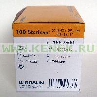 B.Braun Sterican Игла одноразовая инъекционная стерильная 20G (0,9 x 25 мм) [100шт/уп]