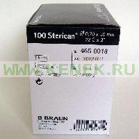 B.Braun Sterican Игла одноразовая инъекционная стерильная 22G (0,7 x 50 мм) [100шт/уп]