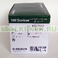B.Braun Sterican Игла одноразовая инъекционная стерильная 21G (0,8 x 25 мм) [100шт/уп]