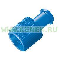 B.Braun Комби-стоппер, заглушка Luer Lock (синий)