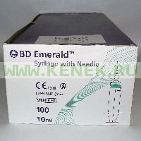 BD Emerald Шприц (3-комп.) 10мл, игла 21G (0,8x40) [100шт/уп]