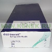 BD Emerald Шприц (3-комп.) 2мл, игла 23G (0,6x30) [100шт/уп]