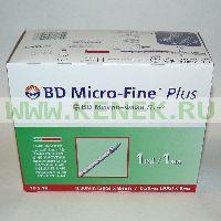 BD Micro-Fine Plus Шприц (3-комп.) 1мл U40, интегрир.игла 30G (0,30x8,0) [100шт/уп]