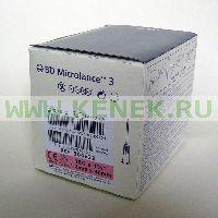 BD Microlance Игла одноразовая инъекционная стерильная 18G (1,2 x 40 мм) тонкая стенка, короткий срез [100шт/уп]