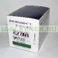 BD Microlance Игла одноразовая инъекционная стерильная 21G (0,8 x 16 мм) тонкая стенка [100шт/уп]