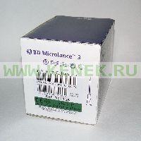 BD Microlance Игла одноразовая инъекционная стерильная 21G (0,8 x 25 мм) тонкая стенка [100шт/уп]