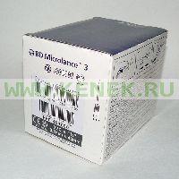 BD Microlance Игла одноразовая инъекционная стерильная 22G (0,7 x 40 мм) тонкая стенка [100шт/уп]