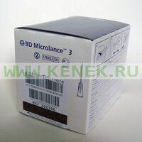 BD Microlance Игла одноразовая инъекционная стерильная 26G (0,45 х 10 мм) интрадермальный срез [100шт/уп]