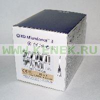 BD Microlance Игла одноразовая инъекционная стерильная 19G (1,1 x 25 мм) [100шт/уп]