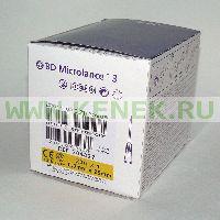 BD Microlance Игла одноразовая инъекционная стерильная 20G (0,9 x 25 мм) тонкая стенка [100шт/уп]