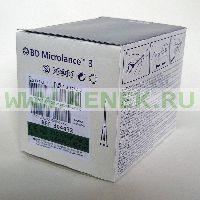 BD Microlance Игла одноразовая инъекционная стерильная 21G (0,8 x 40 мм) тонкая стенка [100шт/уп]