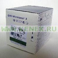 BD Microlance Игла одноразовая инъекционная стерильная 21G (0,8 x 50 мм) тонкая стенка [100шт/уп]