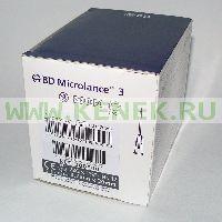 BD Microlance Игла одноразовая инъекционная стерильная 22G (0,7 x 30 мм) тонкая стенка [100шт/уп]