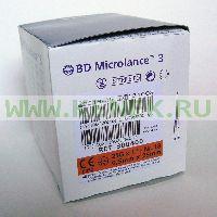 BD Microlance Игла одноразовая инъекционная стерильная 25G (0,5 x 25 мм) [100шт/уп]