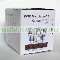 BD Microlance Игла одноразовая инъекционная стерильная 26G (0,45 х 16 мм) тонкая стенка [100шт/уп]