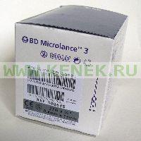 BD Microlance Игла одноразовая инъекционная стерильная 27G (0,4 x 13 мм) [100шт/уп]