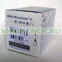 BD Microlance Игла одноразовая инъекционная стерильная 27G (0,4 x 19 мм) [100шт/уп]