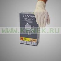 Benovy Перчатки н/ст, латекс, текстур, PF, 100шт/уп