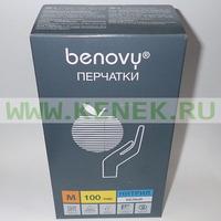 Benovy Перчатки н/ст, нитрил, белые, 200шт/уп