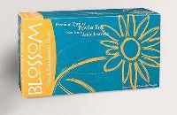 Blossom Перчатки нитрил, текстура на пальцах, PF, нестерил, Teal Blue