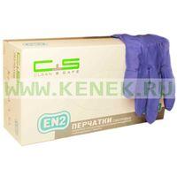 Клин+Сейф №4 Перчатки н/ст, нитрил, текстура на пальцах, PF, фиолетовые, гипоаллергенные EN2, 100шт/уп
