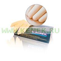 EURONDA №1 Перчатки латекс, текстура, PF, 2-крат.хлор., желтые, Double №100