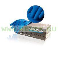 EURONDA №7 Перчатки латекс, текстура полностью, PF, 1-крат.хлор. 13 MIL, High risk [18.5гр]