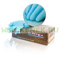 EURONDA №3 Перчатки нитрил, текстура полностью, PF, диагн., голубые Nitrile Touch