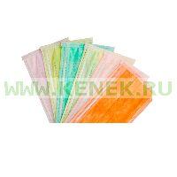 EURONDA Маска трехслойная на резинках, оранжевая, защита 3 [50шт/уп]