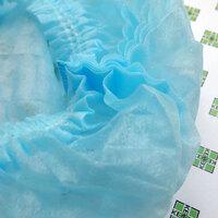 """Гекса Шапочка """"Шарлотта"""", 2-рядная резинка, спанбонд 18г/м2, голубая, 25шт/уп"""