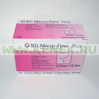 BD Micro-Fine Plus Игла для шприц-ручки 29G (0,33 x 12,7 мм) [100шт/уп]