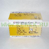 Игла BD Micro-Fine Plus для шприц-ручки 30G (0,30 x 8,0 мм) [100шт/уп]