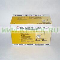 BD Micro-Fine Plus Игла для шприц-ручки 30G (0,30 x 8,0 мм) [100шт/уп]