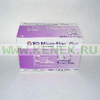 Игла BD Micro-Fine Plus для шприц-ручки 31G (0,25 x 5,0 мм) [100шт/уп]