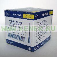 KD-Fine Игла одноразовая инъекционная стерильная 20G (0,9 х 40 мм) [100шт/уп]
