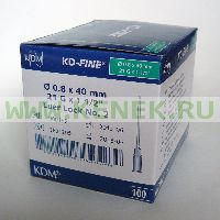 KD-Fine Игла одноразовая инъекционная стерильная 21G (0,8 х 40 мм) [100шт/уп]