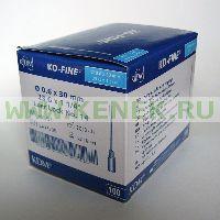 KD-Fine Игла одноразовая инъекционная стерильная 23G (0,6 х 30 мм) [100шт/уп]