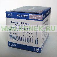KD-Fine Игла одноразовая инъекционная стерильная 24G (0,55 х 25 мм) [100шт/уп]