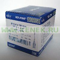 KD-Fine Игла одноразовая инъекционная стерильная 27G (0,4 х 18 мм) [100шт/уп]