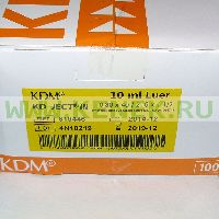 KD-Ject-3 Шприц (3-х комп.) 10мл, игла 21G (0,8х40) [100шт/уп]
