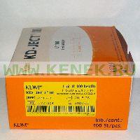 KD-Ject Шприц (3-х комп.) 1мл, съёмная игла 29G (0,33x12) инсулин [100шт/уп]