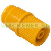 КД-Хеп ин-стоппер, заглушка луер-лок, с мембраной, жёлтый цвет