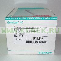 B.Braun Omnican 40 Шприц (3-х комп.) 1мл U40, интегрир.игла 30G (0,30x12,0) [100шт/уп]