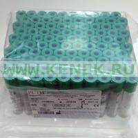 PUTH Пробирка вакуумная, 8мл, гепарин Na + гель, пластик, 16х100 [100шт/уп]
