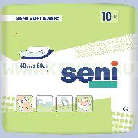 SENI  SOFT BASIC Пеленки гигиенические, размер 60x60см, №10 (зел.упак.)