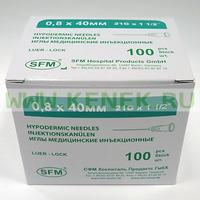 СФМ Игла 21G (0,8 х 40 мм)