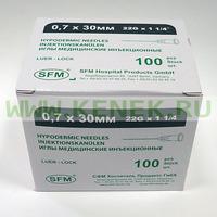 СФМ Игла 22G (0,7 х 30 мм)