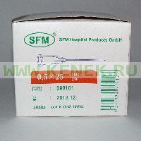 SFM Игла одноразовая инъекционная стерильная 25G (0,5 х 25 мм) [100шт/уп]
